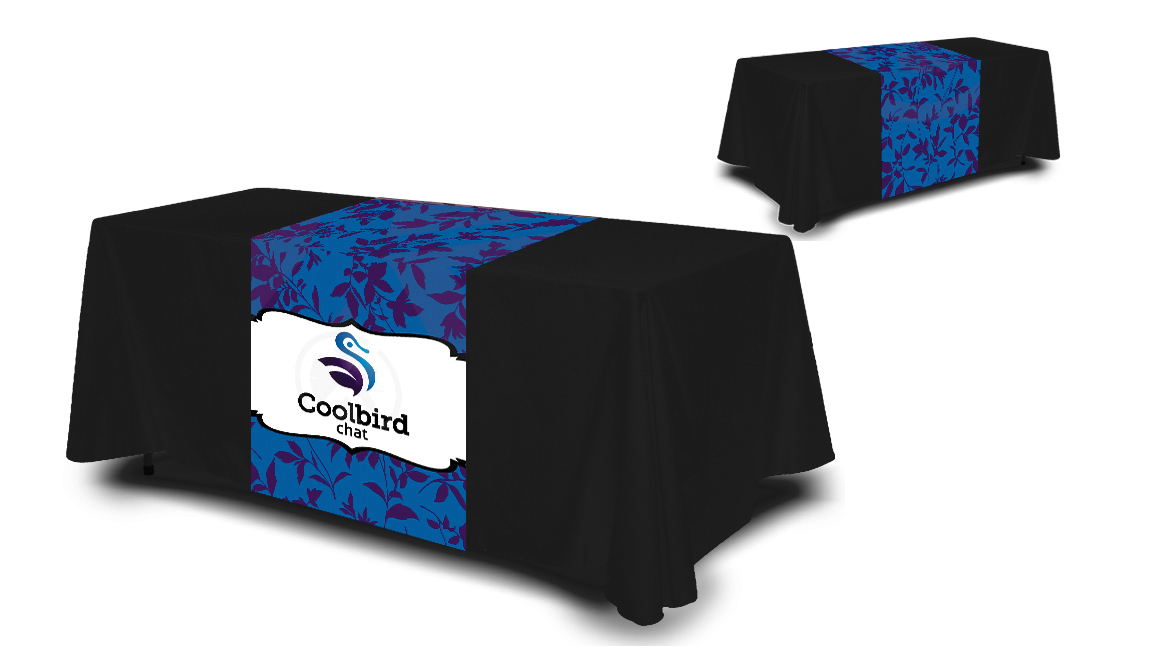 Full Color Table Runner Cloth, What Size Tablecloth For A 38 X 72 Table