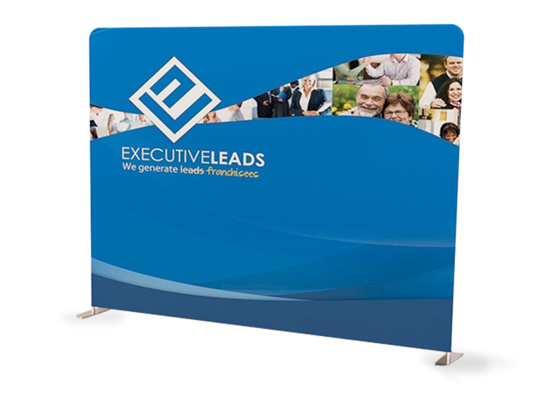 10ft Straight Tension Fabric Display Next Day Display